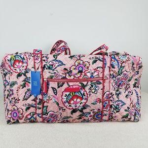 Vera Bradley Iconic Large Travel Duffel Bag NWT